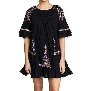 Free People black floral dress